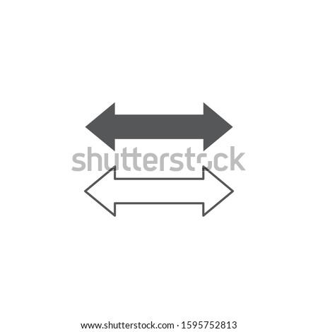 Iki yan ok ikon stok yalıtılmış Stok fotoğraf © kyryloff