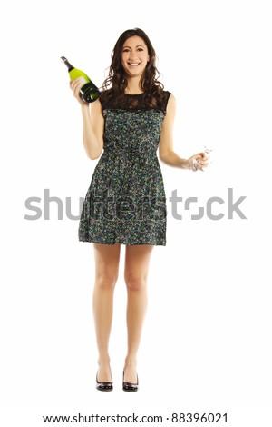 Ritratto felice donna piedi scintilla Foto d'archivio © wavebreak_media
