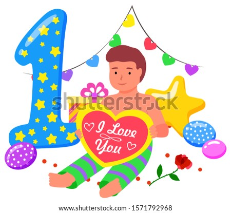 First Anniversary Celebration Accessories Vector Stock photo © robuart