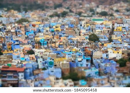 Műszak lencse kék város indiai második Stock fotó © cookelma