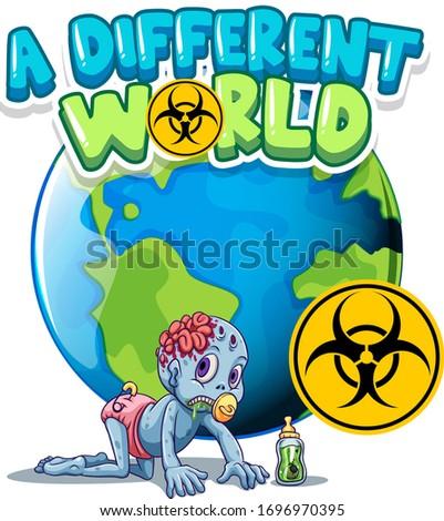 Cartaz projeto palavra diferente mundo terra Foto stock © bluering