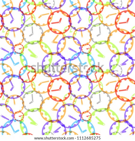 A lot of bright colorful clockface icons, seamless pattern Stock photo © evgeny89