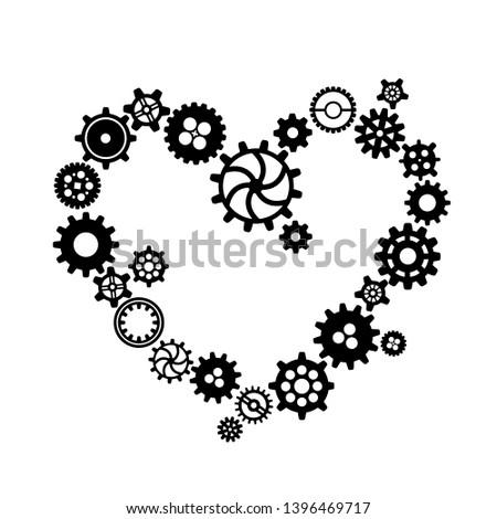 черный различный формы сердца стимпанк Сток-фото © evgeny89