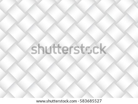 Weave Seamless Pattern. Braiding Background of Intersecting Stripes Lattice. Black and White Geometr Stock photo © samolevsky