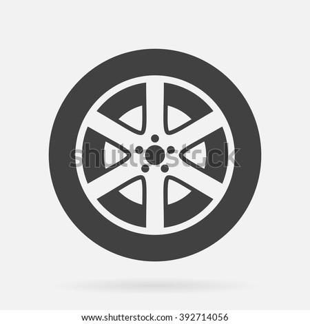 Pneu vetor ícone ilustração modelo de design carro Foto stock © Ggs