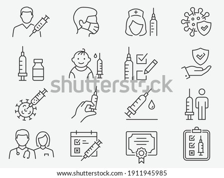 baby immunity protection icon vector outline illustration Stock photo © pikepicture