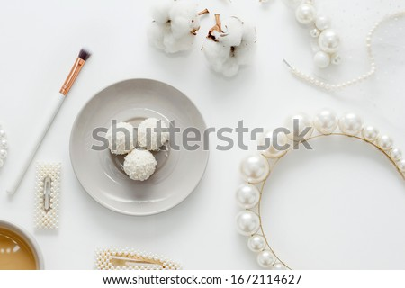 beautiful table for the morning of the bride Stock photo © ruslanshramko