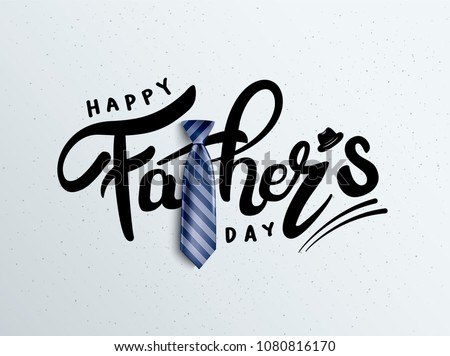 I Love You Dad. Happy Father's Day Greeting Card Design with Bow Tie and 3d Letter on Blue Checkered Stock photo © articular