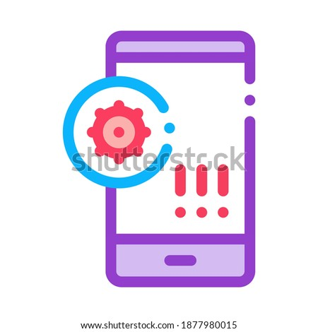 Bacterie mobiele telefoon icon vector schets Stockfoto © pikepicture