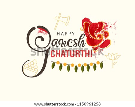 happy ganesh chaturthi indian festival poster design Stock photo © SArts