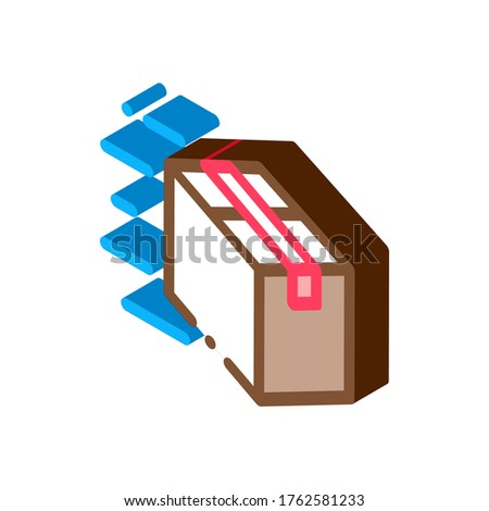 Square Box Postal Transportation Company isometric icon vector illustration Stock photo © pikepicture