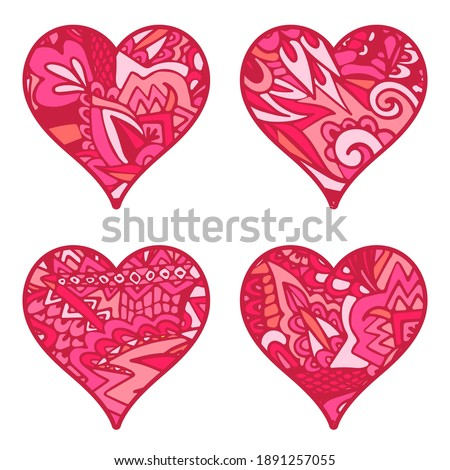 Sketchy Doodle Heart Illustration with mandala. Decoratice object Stock photo © Natalia_1947