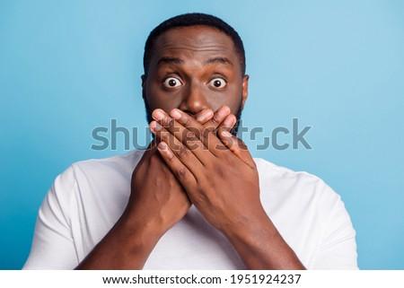 写真 アフリカ系アメリカ人 男 笑みを浮かべて 沈黙 ストックフォト © deandrobot
