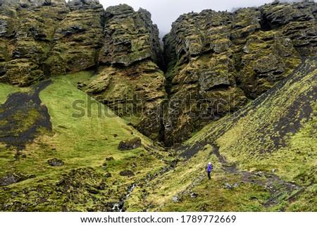 Islandia turysta turystycznych zwiedzanie kanion charakter Zdjęcia stock © Maridav