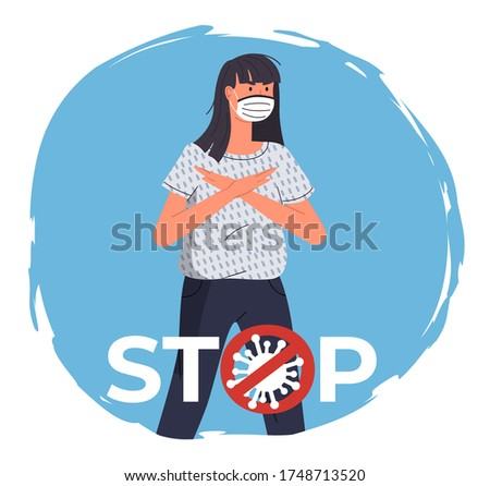 Medische gezicht masker vrouwelijke virale coronavirus Stockfoto © robuart