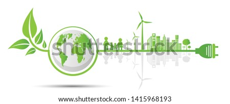 Environmentally friendly business abstract concept vector illustrations. Stock photo © RAStudio