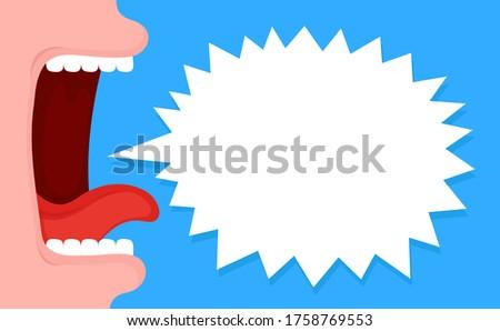 feminino · lábios · mulher · beleza · comunicação - foto stock © adrian_n