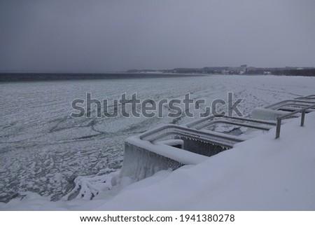 Ijskegel water winter cool dak koud Stockfoto © LianeM