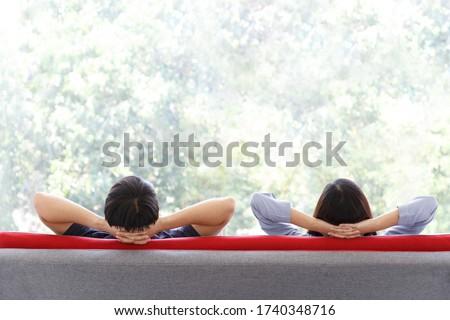 Amantes sessão de volta parque família sorrir Foto stock © wavebreak_media