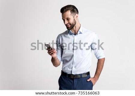 moço · mãos · branco · homem · feliz · jovem - foto stock © wavebreak_media
