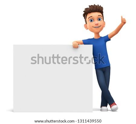 Felice maschio studente posa bianco Foto d'archivio © wavebreak_media
