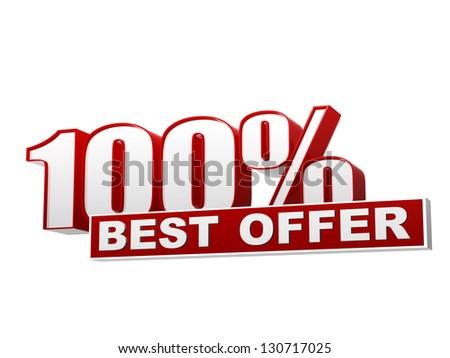 100 percentages best bieden Rood witte Stockfoto © marinini