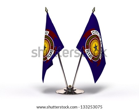 Miniature Flag of El Paso Texas Stock photo © bosphorus