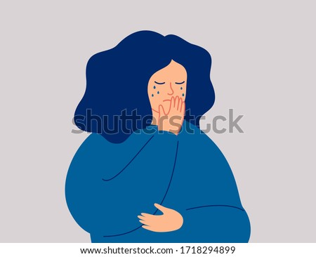 Pleurer femme douleur douleur pavillon Chypre Photo stock © michaklootwijk