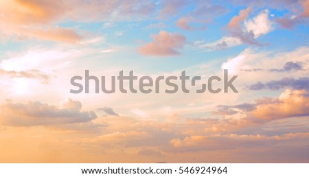 beautiful sky with clouds Stock photo © meinzahn