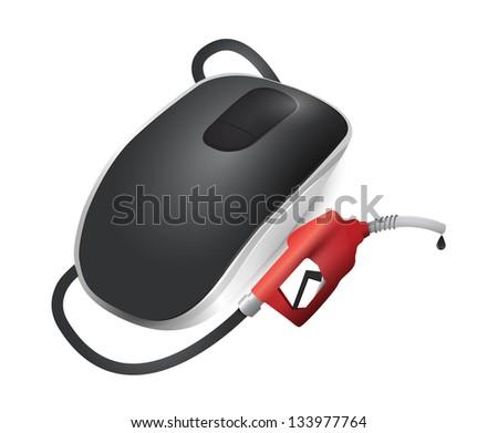 Yakıt kablosuz bilgisayar fare yalıtılmış beyaz teknoloji Stok fotoğraf © alexmillos