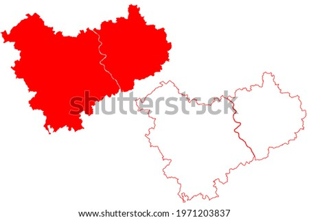 nrw map with rhineland and city of cologne stock photo © ustofre9