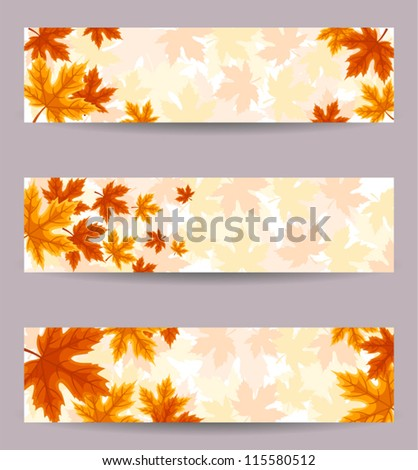 Autumn Background with fallen leaves and blank space Stock photo © vectorikart