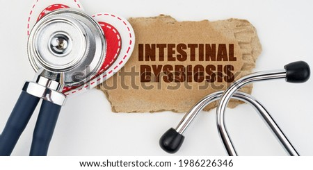 Intestinal Dysbiosis on the Display of Medical Tablet. Stock photo © tashatuvango