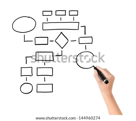 networking people and pen isolated on white background, collage Stock photo © Paha_L