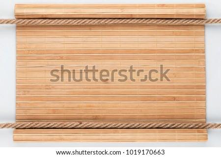 Kettő keret kötél fából készült felület fehér Stock fotó © alekleks