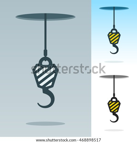 A heavy duty hook suspended on a cable Stock photo © adrian_n