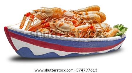 fraîches · crevettes · crevettes · marché · rivière · restaurant - photo stock © smuki