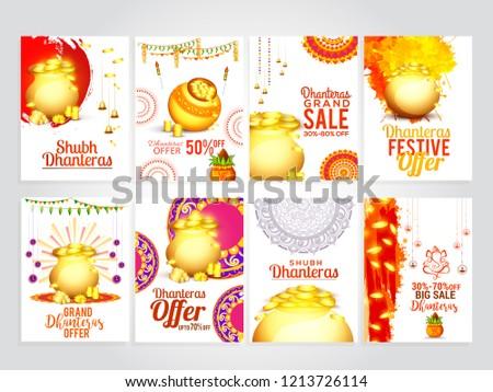 Piękna diwali sezon reklamy banery zestaw Zdjęcia stock © SArts