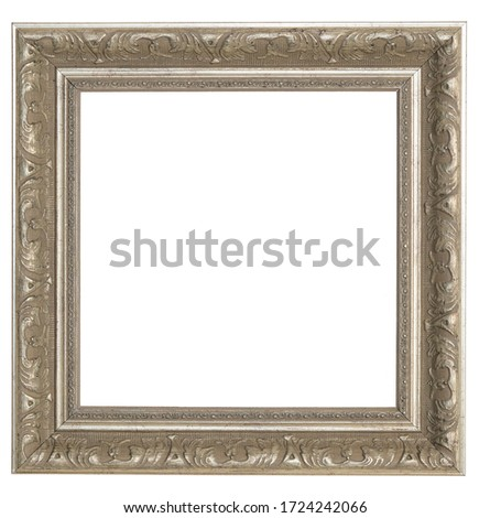 black silver vintage picture frame isolated on white background stock photo © smuki