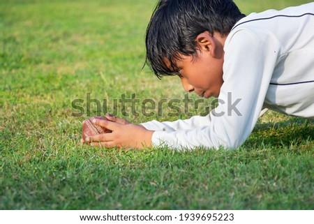 Yandan görünüş kriket oyuncu alan Stok fotoğraf © wavebreak_media