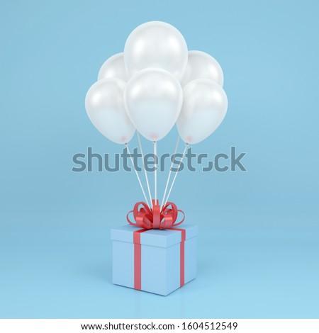 caja · de · regalo · presente · arco · inflable · 3D - foto stock © user_11870380