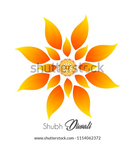 creative watercolor diwali festival greeting card design with di stock photo © sarts