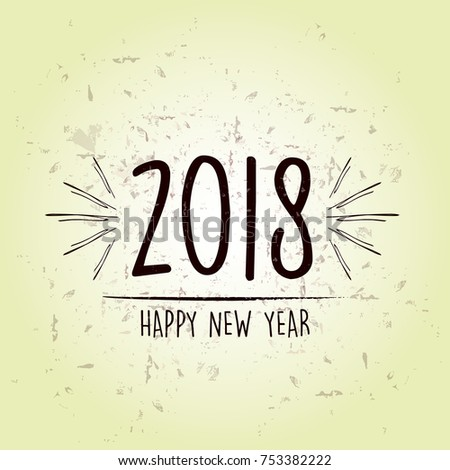 happy new year 2018 over green old paper background with snowfla Stock photo © marinini