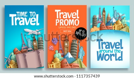 Time to Travel. Journey, trip and vacation. Vector travel illustration. Stock photo © Leo_Edition