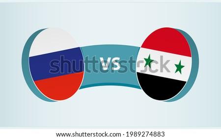 Suriye vs Rusya bayraklar karanlık kırmızı Stok fotoğraf © romvo