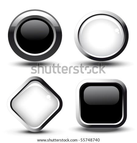 Nouvelle vecteur web élément circulaire bouton Photo stock © rizwanali3d