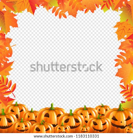Autumn Discount Halloween Poster Isolated Transparent Background Stock photo © barbaliss