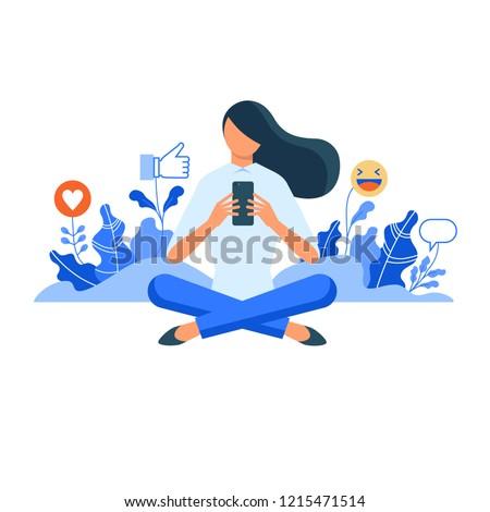 女性 ソーシャルメディア マネージャ 親指 アップ ストックフォト © RAStudio