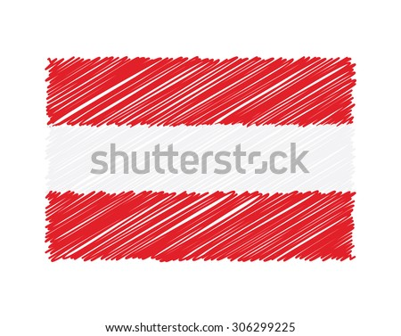 Dessinés à la main pavillon Autriche isolé blanche vecteur Photo stock © garumna