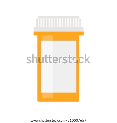 Pills bottle icon. Modern pill bottle for pills or capsules. Fla Stock photo © kyryloff